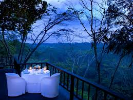 como shambhala estate bali dinner on the deck with views of