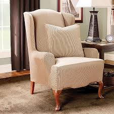 sure fit chair slipcover sure fit dining room chair covers slipcovers for wingback chairs