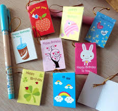 64pcs lot creative mini small greeting cards for birthday