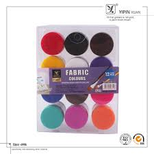 best selling non toxic 12 colours bulk fabric color paint in tube