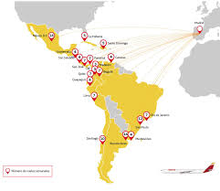 Latin And South America Map by Welcome To Iberia British Airways