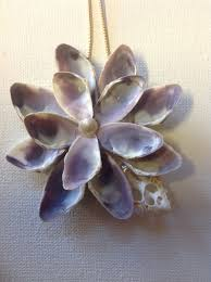 seashell flower ornament shell flower ornaments and ornament