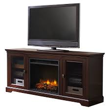 shop style selections 62 in w 5 120 btu dark brown wood and metal