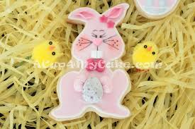 Decorated Easter Bunny Cookies by Easter Bunny Cookies Acup4mycake