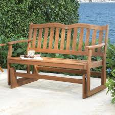 Garden Rocking Bench Patio Glider Bench Treenovation With Outdoor Rocking Inspirations
