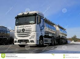 mercedes truck white white mercedes benz actros tank truck on icy yard editorial photo