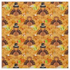 thanksgiving turkey fabric zazzle