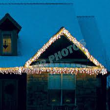 warm white led m5 icicle light set white wire