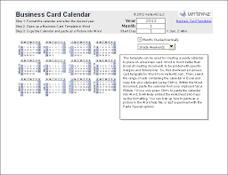 Dimensions For Business Cards Print A Yearly Calendar On A Business Card