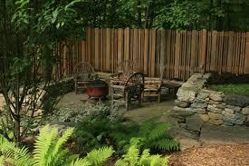 a property line seating area fine gardening
