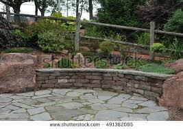 Rock Patio Design Flagstone Patio Stock Images Royalty Free Images U0026 Vectors