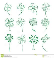 set of 12 four leaf clovers stock photo image 33221160