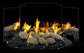 gas burning river rocks from r h peterson