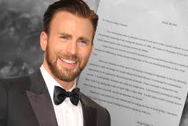 17 year old chris evans u0027 acting cover letter is all of us obsev