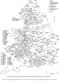 Map Of England And Wales Map Of Forests And Chases Of England And Wales Robin Hood The