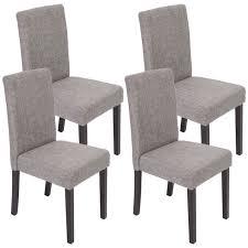 chaises fauteuil lot de 4 chaises de salle à manger fauteuil littau coloris gris