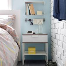 ikea side table with drawer ikea 402 312 30 trysil 2 level drawer bed side table modern white