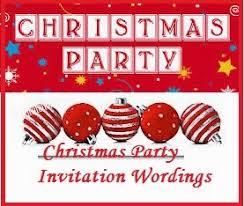sample invitation wordings christmas