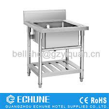 Restaurant Kitchen Sink Stainless Steel Dish Washing Work Table - Restaurant kitchen sinks