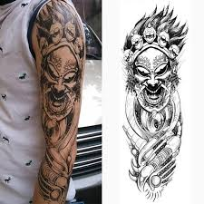 dangerous monster face tattoo waterproof large temporary tattoos