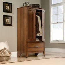 armoire wardrobe storage closet cabinet wood clothes organizer