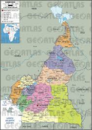 map of cameroon geoatlas countries cameroon map city illustrator fully