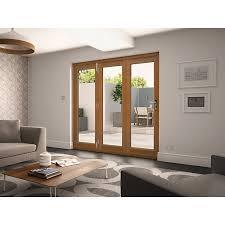 Wickes Exterior Door Wickes Albery Solid Oak External Door Folding Set Oak Wickes Co Uk