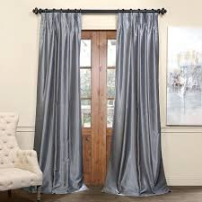 White Faux Silk Curtains Grey Silk Curtains Exclusive Fabrics Signature Pinch Pleated
