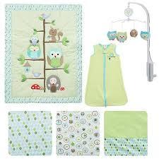 amazon com just born babywise 6 piece baby crib bedding set