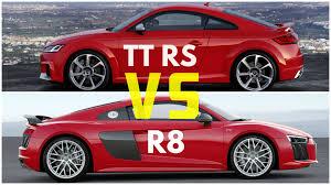 Audi R8 Turbo - 2017 audi tt rs coupe vs audi r8 v10 plus youtube