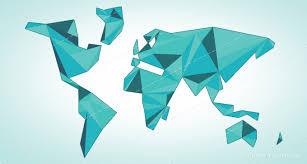Origami Illustrator - world map origami vector designers revolution premium vector