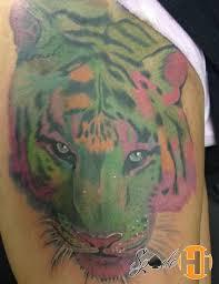 spade abstract tiger tiger leg painting tiger leg