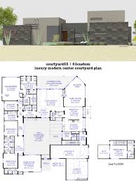 courtyard house plans 61custom contemporary modern home design