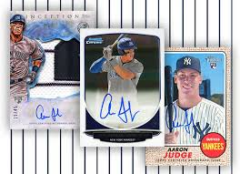 18 Best Aaron Judge Collectibles Images On Pinterest New York - definitive aaron judge autograph cards guide and gallery