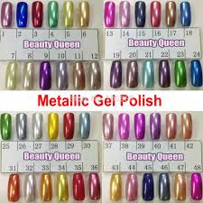 48 colors metallic mirror nail gel polish soak off uv led metal