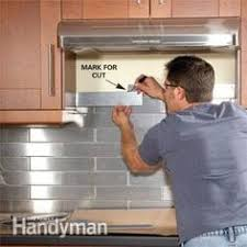 stainless steel backsplash installation home interior design