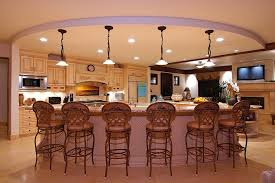Funky Kitchen Lighting by Funky Center Bar In White Accent With Modern Bar Stool And