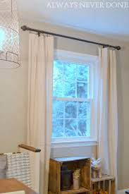 canvas drop cloth no sew curtains