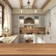 produit cuisine rétro cuisine table en bois sur le fond de tache floue pour l