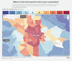 Crime Map United States lead exposure risk map of richmond lots of opportunities here to