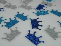 confetti royal prince party crowns navy silver u0026 turquoise glitter
