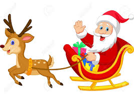 santa claus and his reindeer clipart clipartxtras