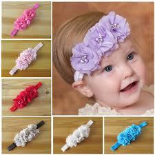 handmade headbands 10pcs handmade hollowed out cloth flower crochet elastic band