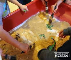 dinosaur dig site dramatic play center for preschoolers