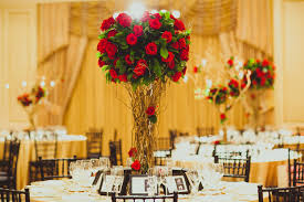 Red Roses Centerpieces Wedding Ideas Elegant Red And White Wedding