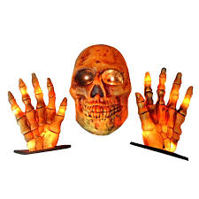 holiday living 7 in ground breaker skull with hands lowe u0027s canada