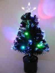 60cm black fibre optic tree with multi coloured led