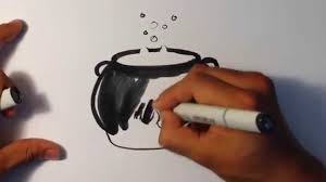how to draw a witches pot halloween drawings youtube