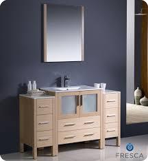 54 Bathroom Vanity Fresca Torino 54 Light Oak Modern Bathroom Vanity With Two Side
