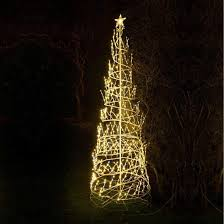 8ft warm white led twinkling spiral tree rope light